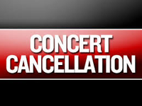 Concert in Barcelona cancelled!
