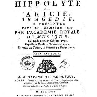 J.-Ph. Rameau: Hippolyte et Aricie