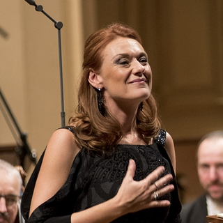Magdalena with Czech Phil and  Robin Ticciati (Prague, 2015)