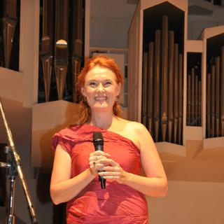 Magdalena Kožená při slavnostním přebírání ceny G. F. Händela (Halle, 2014)