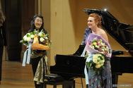Magdalena Kožená and Mitsuko Uchida at Prague Spring Festival (Rudolfinum, 2012)