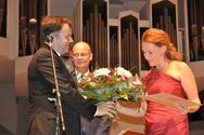 Magdalena Kožená overtaking the price of G. F. Händel (Halle, 2014)